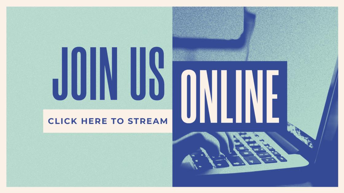 Join Us Online Blue Gradient
